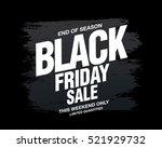 black friday sale banner | Shutterstock .eps vector #521929732