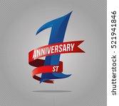 one year anniversary... | Shutterstock .eps vector #521941846