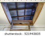 open the entrance to the attic. ... | Shutterstock . vector #521943835