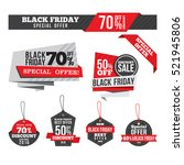 black friday sales tag and... | Shutterstock .eps vector #521945806