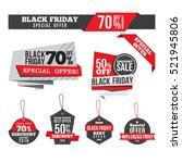 black friday sale discount... | Shutterstock .eps vector #521945806