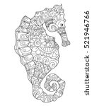 sea horse coloring book for...   Shutterstock .eps vector #521946766