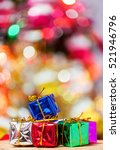 colorful christmas gifts  in... | Shutterstock . vector #521946796