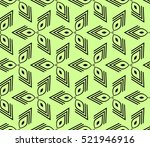 abstract geometric seamless... | Shutterstock .eps vector #521946916