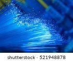 fiber optics lights abstract... | Shutterstock . vector #521948878
