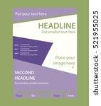 newsletter template for... | Shutterstock .eps vector #521955025