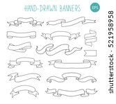 vintage doodle hand drawn... | Shutterstock .eps vector #521958958