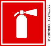 fire extinguisher red sign... | Shutterstock .eps vector #521961712
