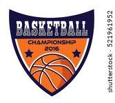 basketball logo  america logo | Shutterstock .eps vector #521961952