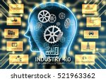 industrial 4.0 cyber physical... | Shutterstock . vector #521963362