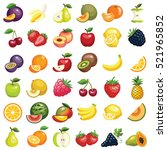healthy fruit food icon... | Shutterstock .eps vector #521965852