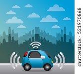 autonomous car vehicle with... | Shutterstock .eps vector #521970868