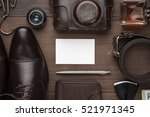 men's accessories and blank... | Shutterstock . vector #521971345