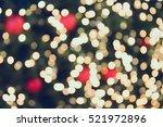 christmas bokeh light abstract... | Shutterstock . vector #521972896