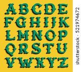 Vintage Money Style Alphabet...