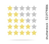 rating stars icon  vector... | Shutterstock .eps vector #521979886