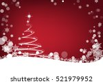 christmas tree background ... | Shutterstock .eps vector #521979952