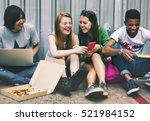 people friendship togetherness... | Shutterstock . vector #521984152