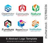 abstract logo template design... | Shutterstock .eps vector #521986036