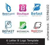 letter b logo template design... | Shutterstock .eps vector #521986102