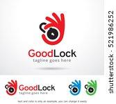 good lock logo template design... | Shutterstock .eps vector #521986252