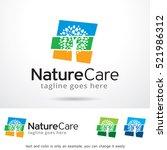 nature care logo template... | Shutterstock .eps vector #521986312