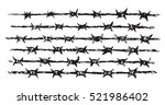 obstacle  razor wire row set... | Shutterstock .eps vector #521986402