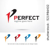 letter p perfect logo template... | Shutterstock .eps vector #521986432