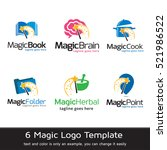 magic logo template design... | Shutterstock .eps vector #521986522