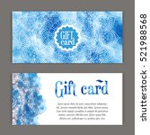 template gift cards ornament...   Shutterstock .eps vector #521988568