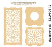diy laser cutting vector scheme ... | Shutterstock .eps vector #521990542
