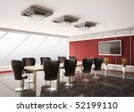 modern boardroom with lcd... | Shutterstock . vector #52199110