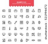 minimalistic thin line... | Shutterstock .eps vector #521994472