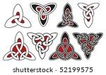 set of celtic design elements   Shutterstock .eps vector #52199575