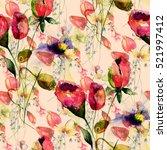 seamless pattern with original...   Shutterstock . vector #521997412