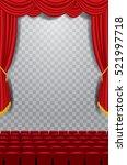 vector transparent empty stage...   Shutterstock .eps vector #521997718