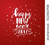 happy new year. xmas vector... | Shutterstock .eps vector #522002908