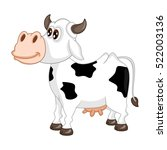 cartoon cow character on a... | Shutterstock .eps vector #522003136