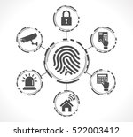 access control system  ... | Shutterstock .eps vector #522003412