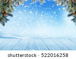 christmas background with... | Shutterstock . vector #522016258