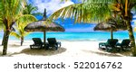 tropical vacations   turquoise... | Shutterstock . vector #522016762