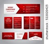 merry christmas banner  flyers  ... | Shutterstock .eps vector #522020425