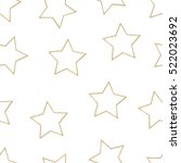 stars seamless pattern. vector... | Shutterstock .eps vector #522023692