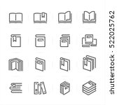 book icons with white... | Shutterstock .eps vector #522025762