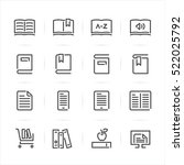 book icons with white... | Shutterstock .eps vector #522025792