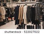 urban clothing on hangers   Shutterstock . vector #522027022