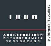 modern strong alphabet... | Shutterstock .eps vector #522028852
