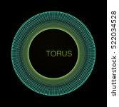 3d torus. element for cyber ...   Shutterstock .eps vector #522034528