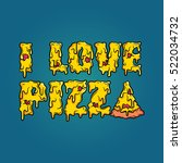 "stylized ""i love pizza"" title.... 