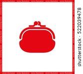 purse icon vector illustration... | Shutterstock .eps vector #522039478